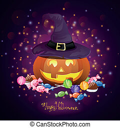 Vector Halloween Design - Vector Illustration of a...