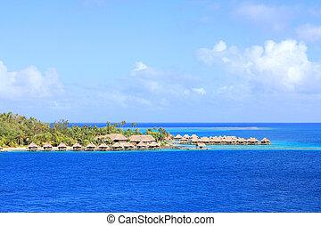Bora Bora bungalows - Bungalows on tropical Bora Bora...
