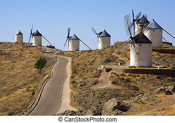 Windmills at Consuegra - La Mancha - Spain - Windmills of...