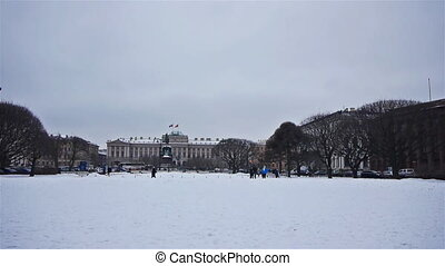Saint Icaas square in StPetersburg, Russia - SAINT...