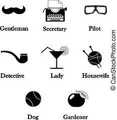 hipster detective icon vector