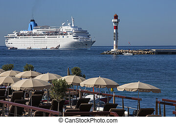 Cannes - French Riviera - South of France - Cruise Liner...