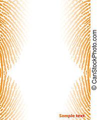 fingerprinted, fundo, laranja, cor