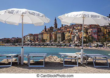 Mediterranean resort of Menton - French Riviera - The resort...