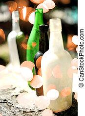 alcohol bottles at nightclub