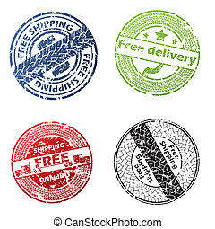Free delivery seal vector set