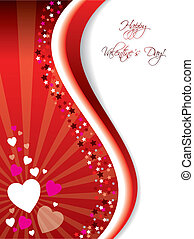 Bursting Valentine card - Bursting valentine card design...