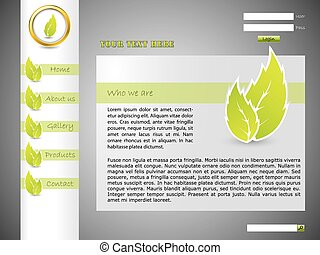 Ecological website template with green color