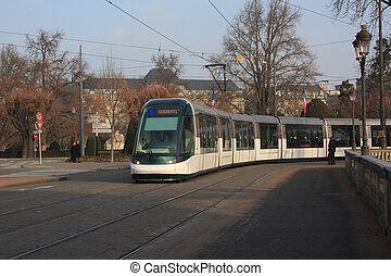 Strasbourg France - Tramway in Strasbourg France