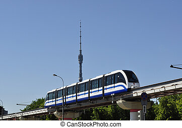 monorail - the monorail in Moscow VVC.Ostankino television...