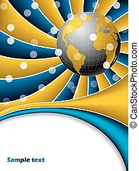 Abstract gold globe brochure
