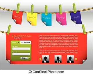 Labels on ropes website template