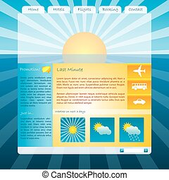 Cool sunset website template design
