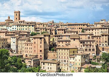 The historic city of Siena in Tuscany