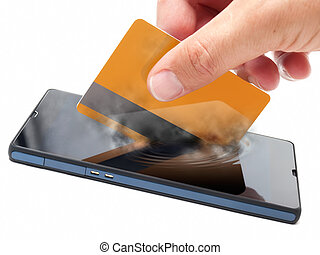 Mobile payment - Conceptual view about checkouts or payments...