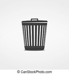 Trash Can Icon - Trash can icon, vector eps10 illustration