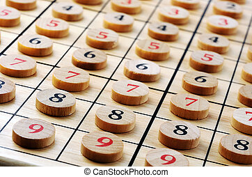 wooden numbers - Wooden sudoku numbers in order Lucky...
