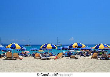 Parga Greece - Valtos beach in Parga Greece