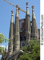 Segrada Familia - Barcelona - Spain - Gaudis Neo-Gothic...