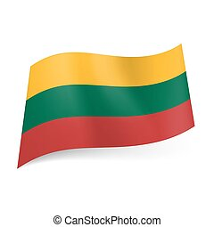 State flag of Lithuania.