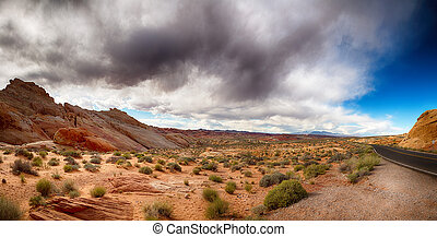 Valley of Fire with dramatic sky