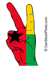 Peace Sign of the Guinea Bissau flag