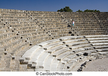 Amphitheater at Salamis - Turkish Cyprus - The Amphitheater...