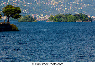 Trees and islands on a lake