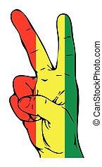 guinée, drapeau, paix, signe