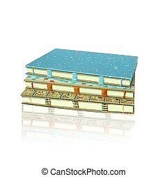 Handicraft blue retro notebook isolated