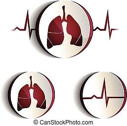 符號, 集合, 肺