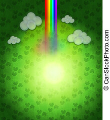 Patricks day background - Illustration of abstract St...