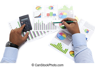 Business Data Analyzing - Stock Image