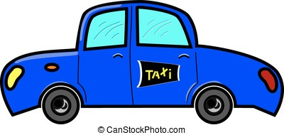 Blue taxi - Taxi in blue colour with taxi sign