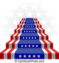 The stylized ladder. Flag of the US