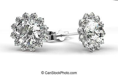 Diamond Earrings - A couple of diamond earrings