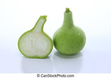 Bottle gourd on white background - Bottle gourd on white...