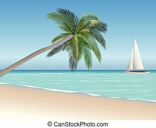 sea scape vector illustration