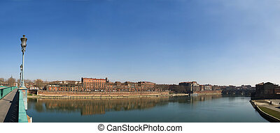 Panoramic picture Toulouse city in France - Toulouse city...