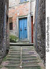 Urban scene in Urbino, Italy