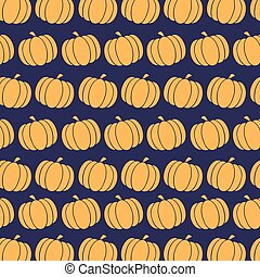 Pumpkin Pattern In Purple