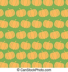 Pumpkin  Pattern In Green