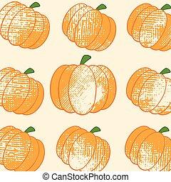 Pumkin Background Pattern Grunge