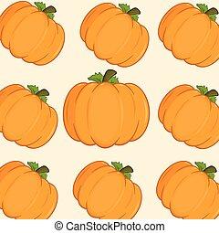 Orange Pumkins Background Pattern