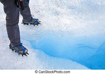 glace, Cravasse, -, Perito, Moreno, glacier, -, Argentine