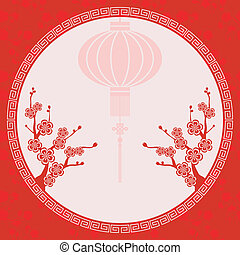 Oriental Chinese Lantern Illustration - Oriental Chinese...