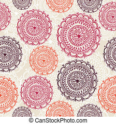 Vintage circle elements seamless pattern background EPS10...