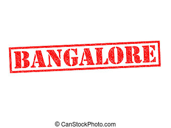 BANGALORE Rubber Stamp over a white background.