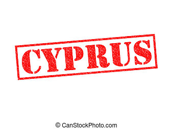 CYPRUS Rubber Stamp over a white background