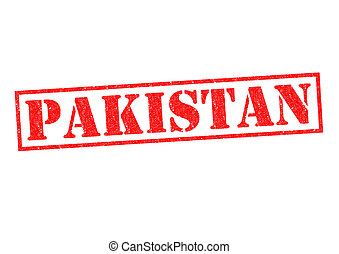 PAKISTAN Rubber Stamp over a white background.